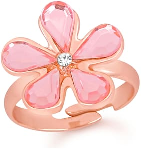 Pink Alloy Ring