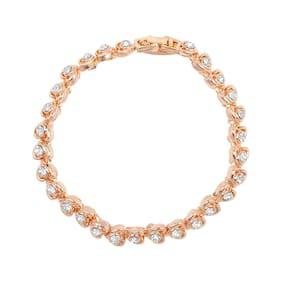 Rose Gold;White Alloy Bracelet