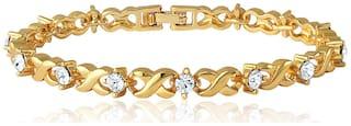 Mahi Valentine Special  Silver Brass Bracelet For Women Br1100126G