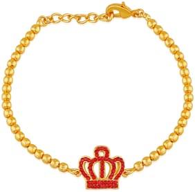 Red Alloy Cuff Bracelet