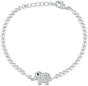 White Alloy Cuff Bracelet