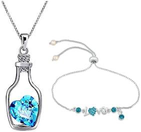 Blue Bracelet & Pendant Set