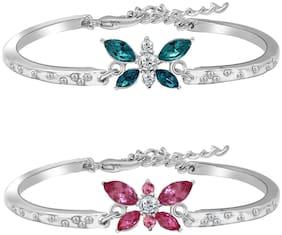 Blue;Pink;White Alloy Link Bracelet