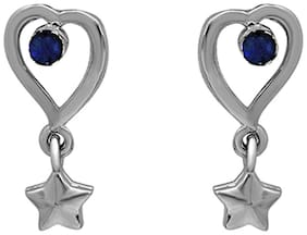 Mahi Valentine & Christmas Special Gift Falling Star earring with Crystals For Women ER1192733RBlu