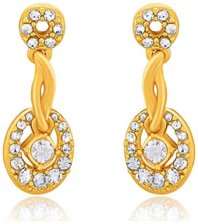 Oviya Gold plated Beckoning Bright Earrings with Crystals for Women ER2193191G