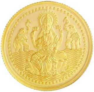 Malabar Gold and Diamonds 916 Purity 5 g Laxmi Gold Coin MGLX916P5G