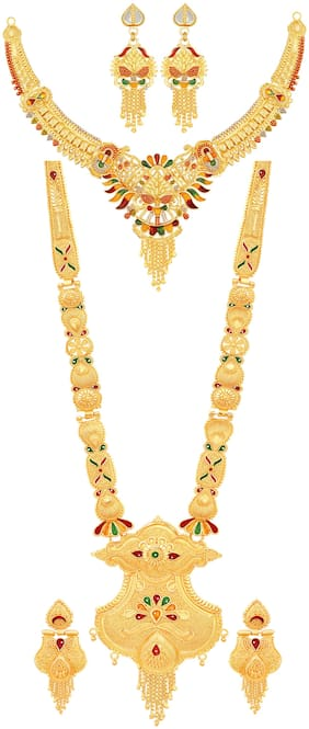 Mansiyaorange Necklaces, Neck Pieces & Sets For Women