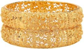 Mansiyaorange Traditional One Gram Original Look Hand Work Bangles For Women