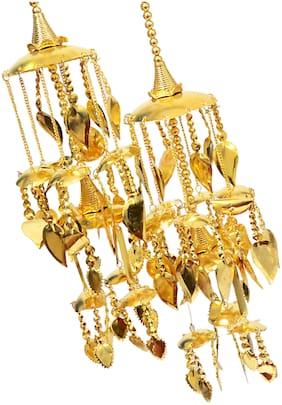 Mansiyaorange Traditional Wedding Wear Punabi kalere/Kaleera/Kalera/Bridal Hand Hanging/kaleera for Brides /Girls/Women(Gold Patra Work Premium Range)