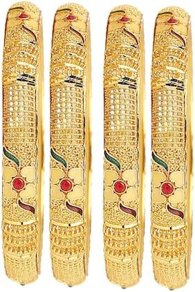 Mansiyaorange Traditional Hand Made Original Look Bangles For Women