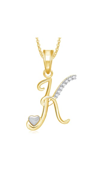 Buy meenaz k letter heart pendant locket alphabet for women and meenaz k letter heart pendant locket alphabet for women and men with chain gold aloadofball Images