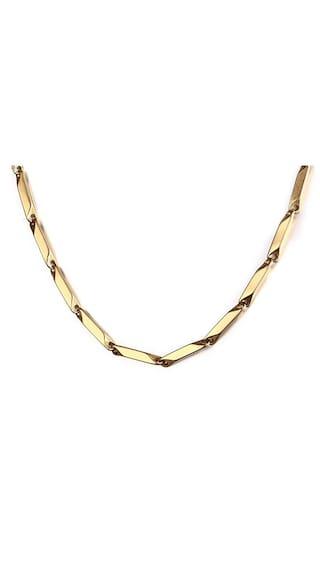 Buy meenaz men jewellery valentine gold chain necklace for men meenaz men jewellery valentine gold chain necklace for men husband boys boyfriend gents mens chain for aloadofball Gallery