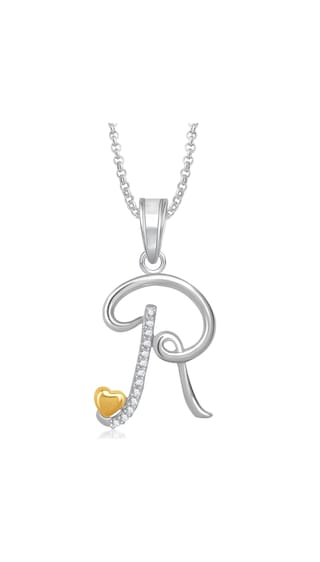 buy meenaz r letter heart pendant locket alphabet for women and