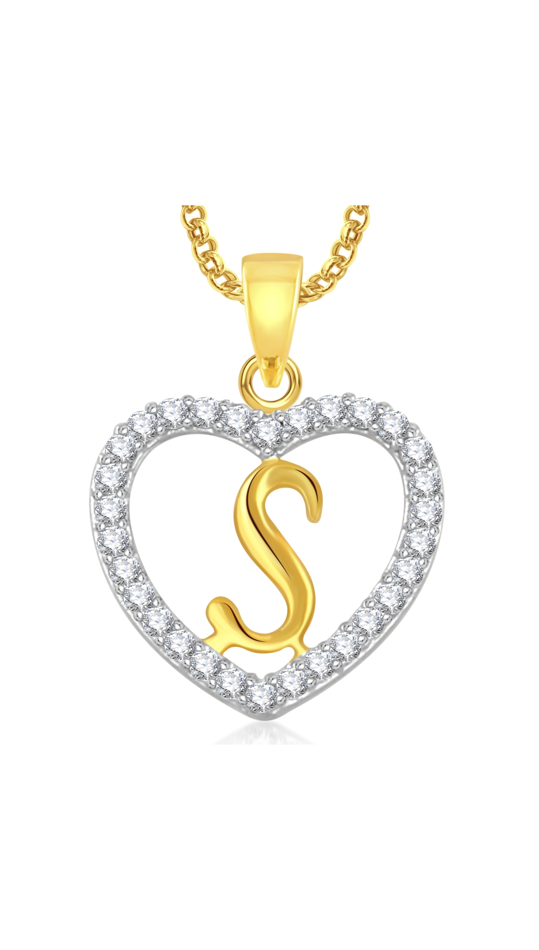 gold letter online locket prices chains amazon chain cz american in for and r men plated india at dp diamond buy meenaz women with heart low pendant