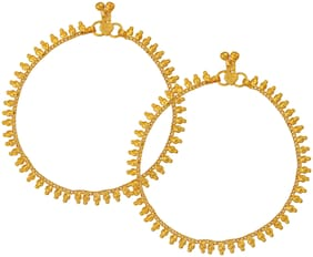 Memoir Gold plated Traditional Payal Pajeb Anklet Women