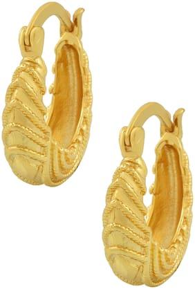 Memoir Gold Plated Basket Design Hoop Fashion Earring Women Traditional