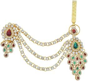 Memoir Gold plated CZ Crystal Peacock inspired Ethnic Bellychain,Waistbelt,Kamarbandh festive jewellery stylish