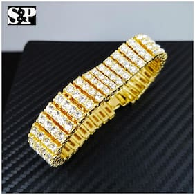 Men's Luxury Hip Hop Iced Bling Lab Diamond Dress WATCH & BRACELET Gift Set