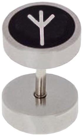 Men Style New Design Piercing Punk Silver 316 L Stainless Steel Dumbell Stud Earring For Men
