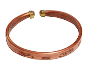 Men Style Om Brown Copper Round Kada For Men And Women