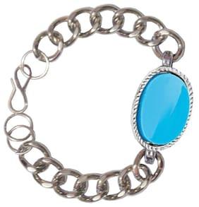 Men Style Salman khan Inspired Blue Tone Alloy Bracelet