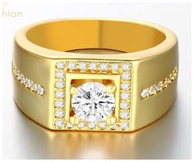 MENS GOLDEN DIAMOND WEDDING RING