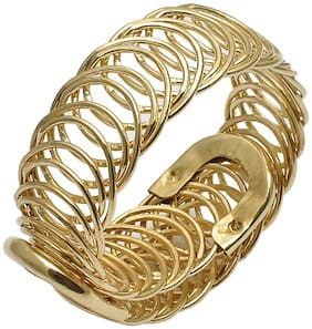 JDX Metal Gold Hand Cuff for Women and Girls Adjustable