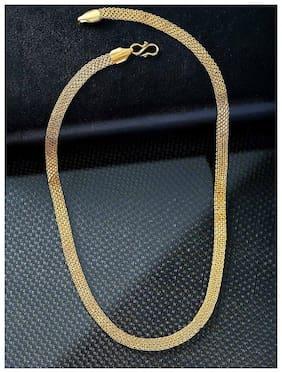 Minprice 1 Gram Patti Net Gold Plated Chain for Men