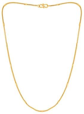 Minprice 1 Gram Thin Box Clip Gold Plated Chain