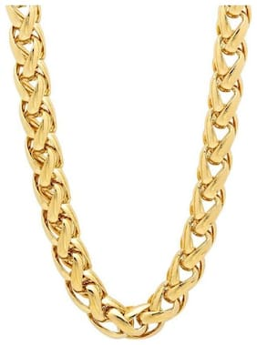 Minprice  Gold Plated Round Thick Chain for Men