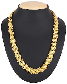 Minprice  Gold Plated Kohali 1.5 cm thick Chain for Men