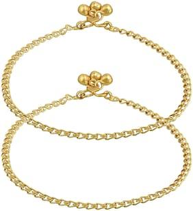 MissMister Gold Anklets For  Women