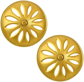 Missmister Gold Plated Floral Fashion Stud Earring Traditional Women