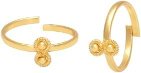 MissMister Gold Plated Toe Ring For Women