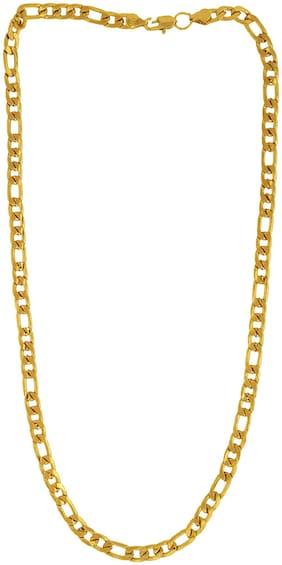 MissMister Gold Finish Brass Fiagro Link Design Fashion Necklace Chain