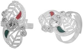 MissMister Silver Plated Toe Ring For Women