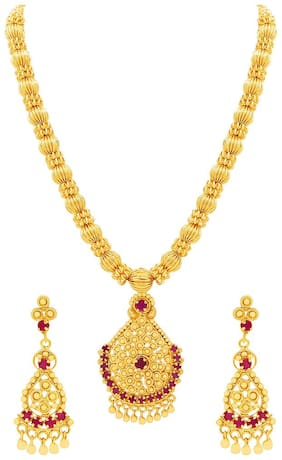 MFJ Adorable One Gram Gold Plated Necklace Set For Women