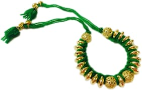 MJR Rakhi Set of 1 for Bhabhi | Rakhi Combo (Roli, Chawal, Mishri)
