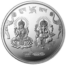 MMTC-PAMP Laxmi Ganesh Silver Coin of 100 g in 999.9 Purity