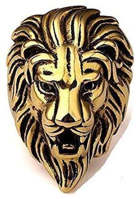 MPI Stainless steel Skull Halloween Skeleton Gold Color Ring for Men 1Pc