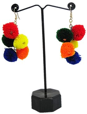 muccasacra Funky Multicolour Bunch Earring Length- 6cm