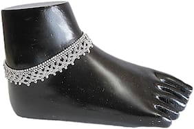 Muccasacra Festival special Single Broad Criss-Cross elegant looking Sterling Silver Anklet