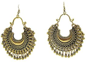 muccasacra Hot Selling Fashion Big Golden Fine Afghani Style Dangle Earring