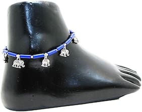 muccasacra Top selling single Elephant Design Sterling Silver Anklet