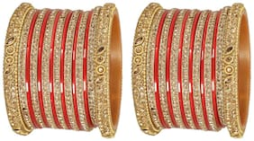 MUCH-MORE Ethnic Bangles Traditional Party-Wear Set For Women