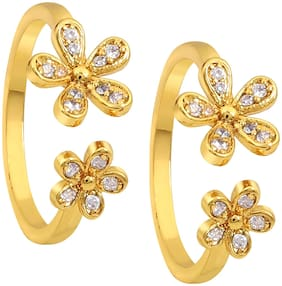 Much More Ethnic Design Work Toe Ring For Girls & Women Jewelry