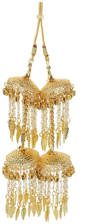 MUCH MORE Gold Tone Bridal Kalira / Kaleeray With Pearl Dropping Indian Traditional Jewellery For Women