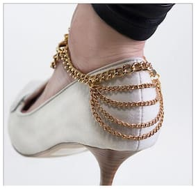 Multi Chain Draping Heel Anklet