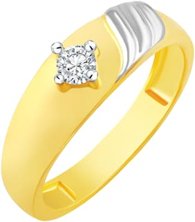 NETRA CREATION Stylish Single Solitaire Gold Plated Alloy & Barss Cubic Zirconia Finger Ring for Women [NFR447G]