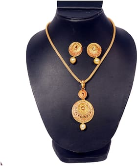 Oanik Jewel Traditional Necklace With Gold plated Set With Earring For Women and Girls